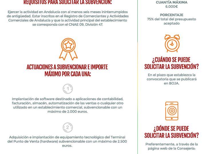 Nueva subvención de la Junta de Andalucía