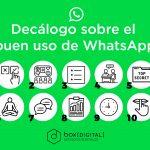 Decálogo sobre el buen uso del Whatsapp